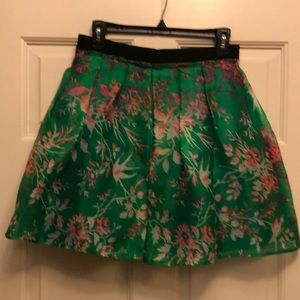 Nanette Lepore green 100% silk organza skirt - 4